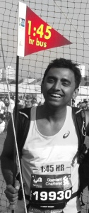 Vikas Singh: The first ever 1:45 pacer for the SCMM (half marathon)