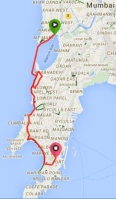 SCMM Half Marathon - Route Map