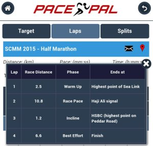 PacePal has Natural Laps for the SCMM (half)
