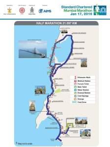 SCMM2016 Half Marathon Route Map