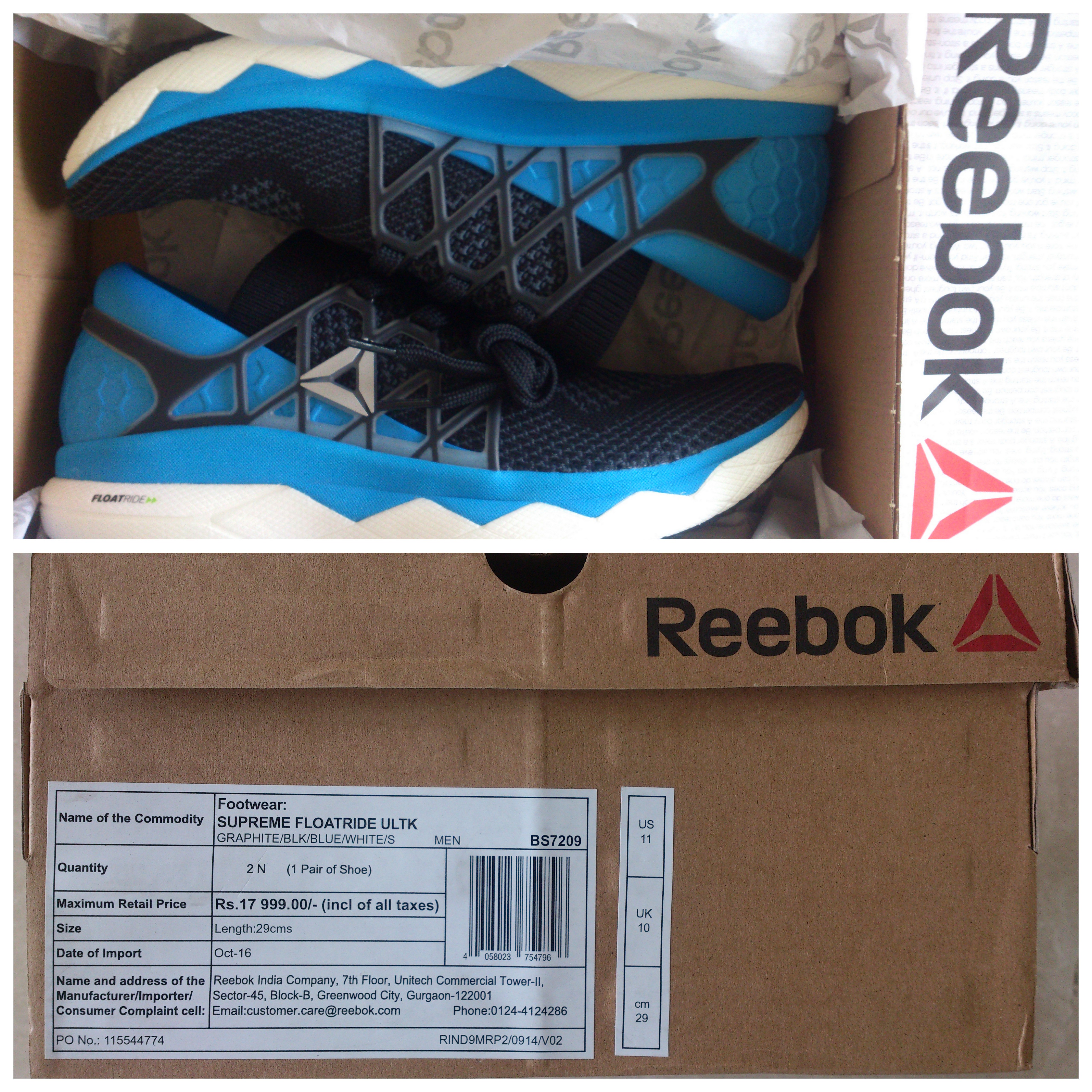 406488d3fc4d The Reebok Floatride Running Shoe – Puru The Guru