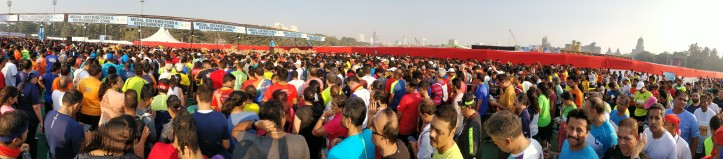 We were lucky the queuing crowds were calm after the finish line at TMM20